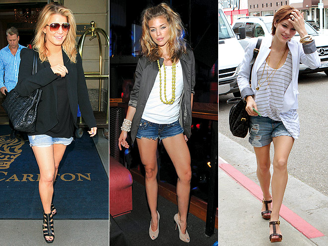 BLAZERS AND CUTOFFS  photo | AnnaLynne McCord, Jessica Simpson, Katharine McPhee
