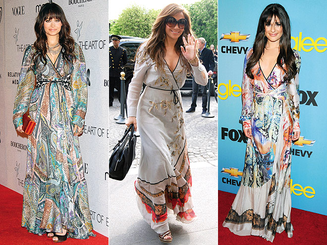 WRAP MAXIDRESSES  photo | Jennifer Lopez, Lea Michele, Nicole Richie
