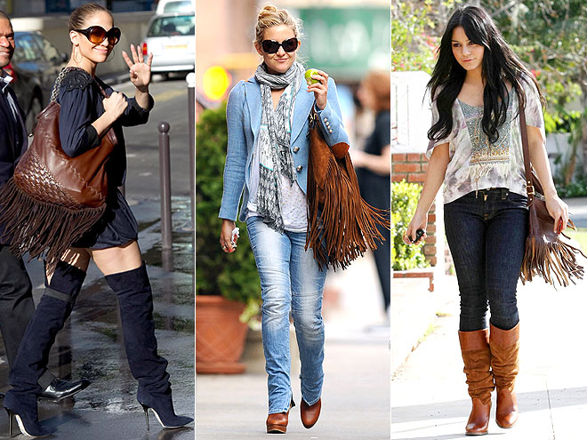 FRINGED BROWN BAGS photo | Jennifer Lopez, Kate Hudson, Vanessa Hudgens
