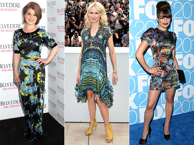 BLACK-AND-BLUE PRINTS photo | Kelly Osbourne, Lea Michele, Naomi Watts