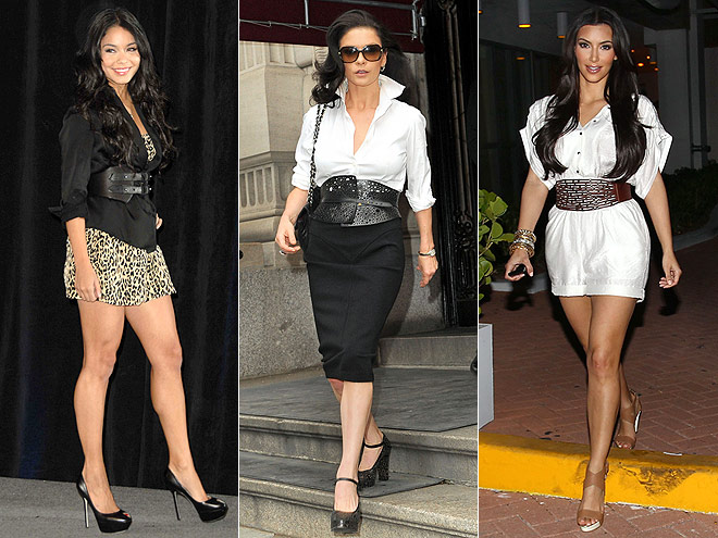CORSET BELTS  photo | Catherine Zeta-Jones, Kim Kardashian, Vanessa Hudgens
