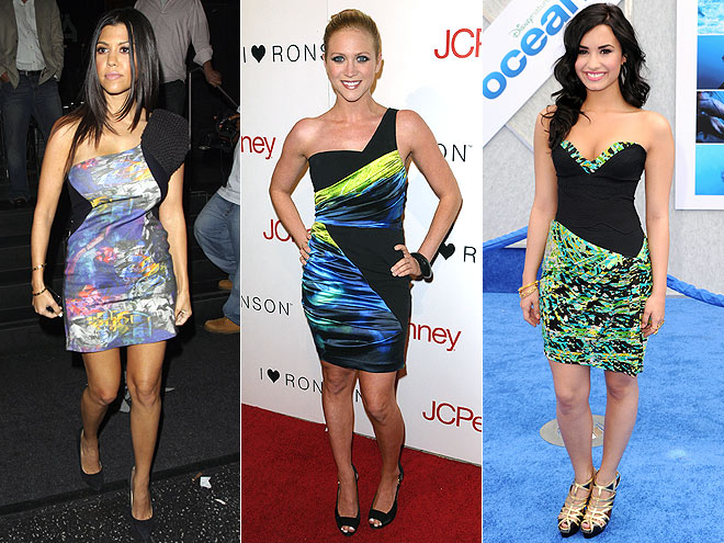 COLORBLOCK PRINTS  photo | Brittany Snow, Demi Lovato, Kourtney Kardashian