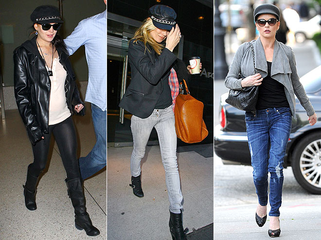 BIKER CAPS  photo | Catherine Zeta-Jones, Kate Moss, Lindsay Lohan