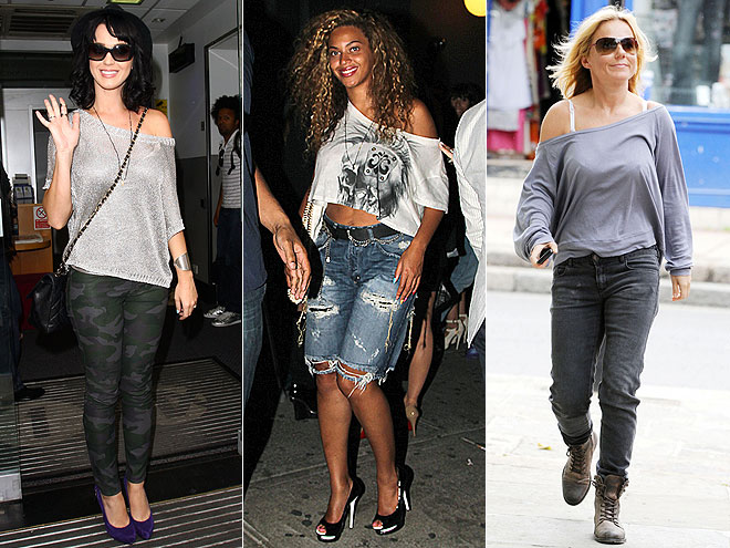 OFF-THE-SHOULDER SHIRTS  photo | Beyonce Knowles, Geri Halliwell, Katy Perry