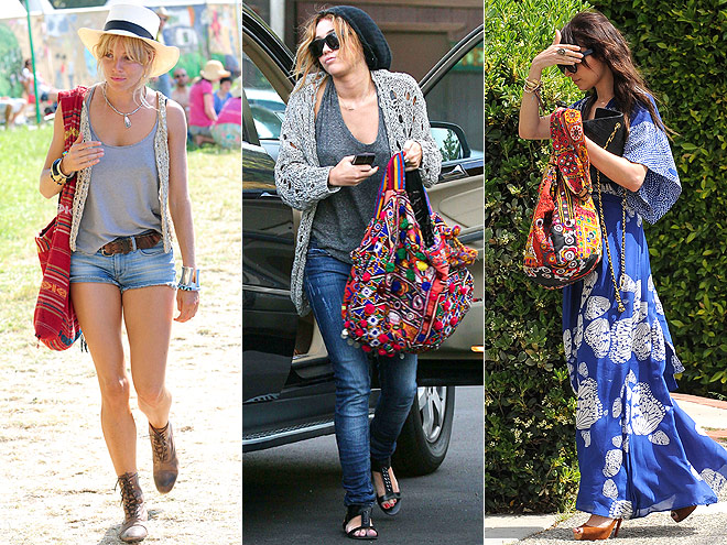 PATTERNED PURSES  photo | Miley Cyrus, Nicole Richie, Sienna Miller