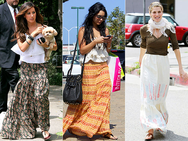 LONG PEASANT SKIRTS  photo | Ashley Tisdale, Lake Bell, Vanessa Hudgens
