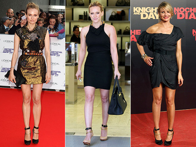 CHAIN STRAP SHOES  photo | Cameron Diaz, Diane Kruger, Hilary Duff