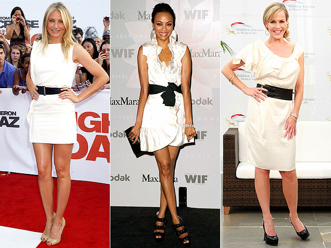 WHITE DRESSES  photo | Cameron Diaz, Julie Benz, Zoe Saldana