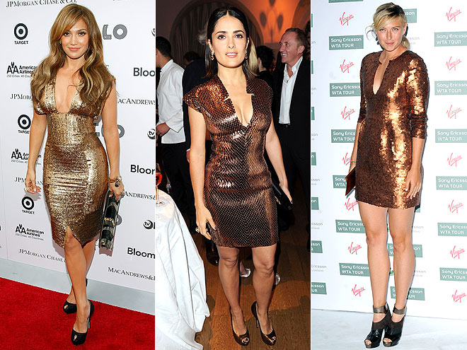 BRONZE SEQUINS photo | Jennifer Lopez, Maria Sharapova, Salma Hayek
