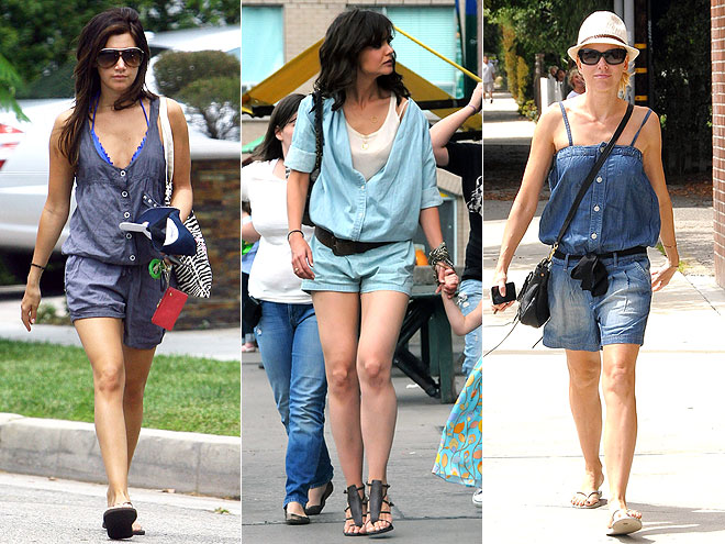 DENIM ROMPERS  photo | Ashley Tisdale, Katie Holmes, Naomi Watts