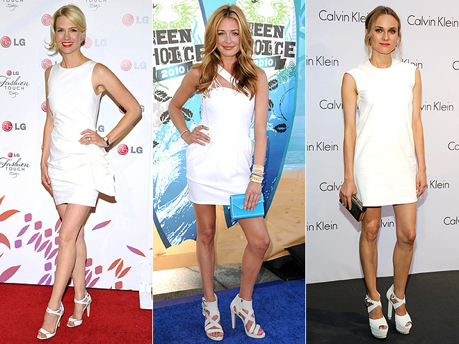 ALL WHITE  photo | Cat Deeley, Diane Kruger, January Jones