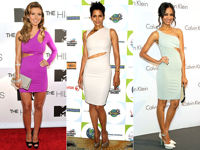 CUTOUT DRESSES  photo | Audrina Patridge, Halle Berry, Zoe Saldana