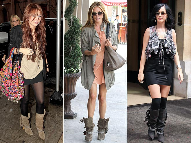 FRINGED BOOTS photo | Cat Deeley, Katy Perry, Miley Cyrus