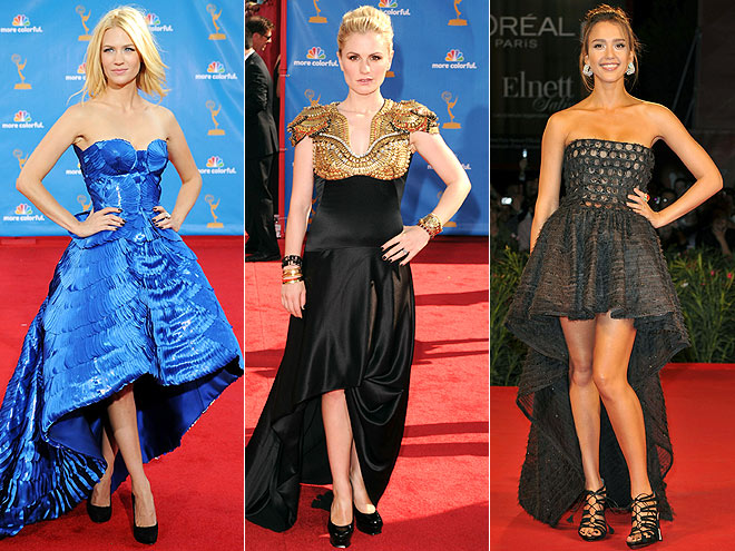 RISE-AND-FALL HEMLINE photo | Anna Paquin, January Jones, Jessica Alba