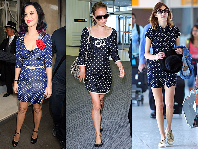 NAVY AND WHITE POLKADOTS photo | Alexa Chung, Katy Perry, Natalie Portman