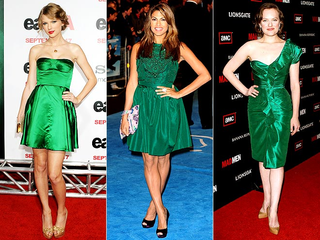 EMERALD GREEN DRESSES photo | Elisabeth Moss, Eva Mendes, Taylor Swift