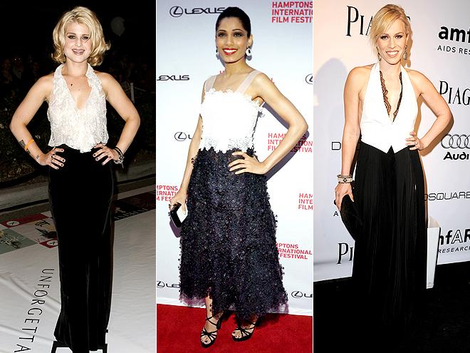 BLACK-AND-WHITE photo | Freida Pinto, Kelly Osbourne, Natasha Bedingfield