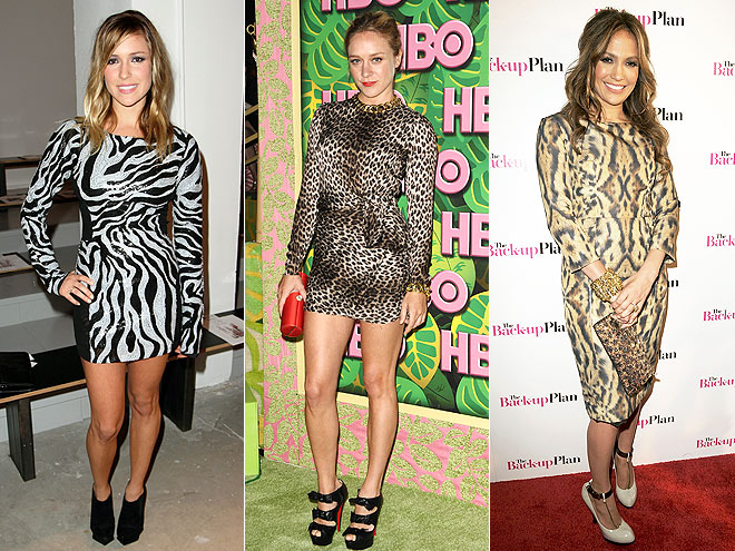 ANIMAL-PRINT DRESSES  photo | Chloë Sevigny, Jennifer Lopez, Kristin Cavallari