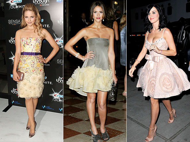 FLORAL APPLIQUÉS  photo | Dianna Agron, Jessica Alba, Katy Perry