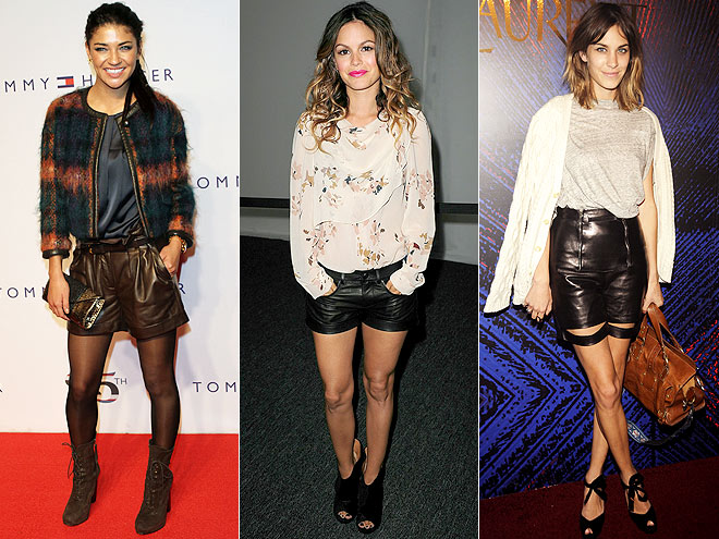 LEATHER SHORTS  photo | Alexa Chung, Jessica Szohr, Rachel Bilson