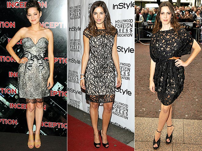 SHEER BLACK OVERLAYS photo | Camilla Belle, Marion Cotillard, Rebecca Hall