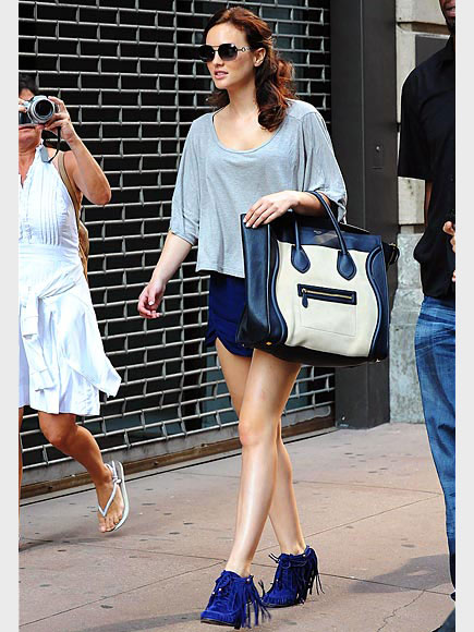 LEIGHTON MEESTER'S BAG & BOOTIES photo | Leighton Meester