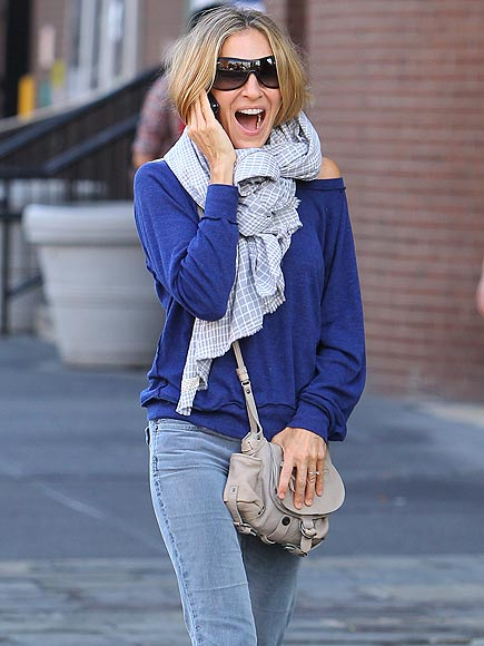 SARAH JESSICA PARKER'S MESSENGER BAG photo | Sarah Jessica Parker