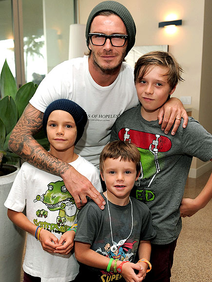 BECKHAM BOYS' TEES photo | David Beckham