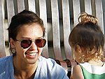 Jessica Alba Takes Honor Marie to the Playground | Jessica Alba