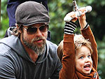 Brad Pitt Takes the Kids to the Park