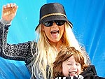 Christina Aguilera Takes Son Max Pumpkin Picking | Christina Aguilera