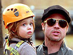 Brad Pitt Takes Daughter Shiloh on a Zipline in Budapest | Brad Pitt