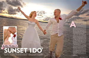 Kellie Pickler's Sunset 'I Do'