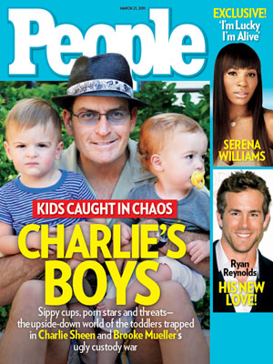 photo | Charlie Sheen Cover, Family Drama, Charlie Sheen, Ryan Reynolds, Serena Williams