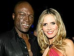 Heidi & Seal Steal PDA at Emmy Bash | Heidi Klum, Seal