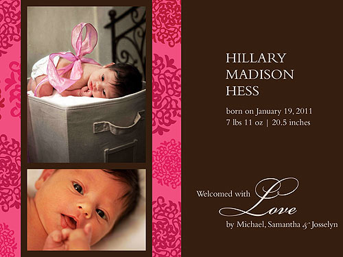 Meet Samantha Harriss Daughter Hillary Madison Moms Babies – Madison Birth Announcements