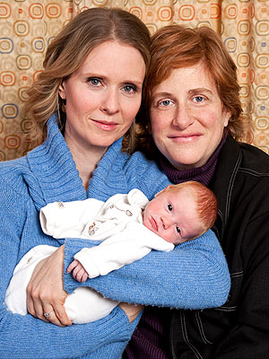 cynthia nixon partner. Cynthia Nixon Introduces Son