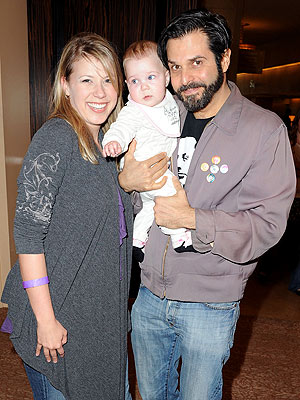 Jodie Sweetin and her third husband Morty Coyle whom she divorced in 2016 along with their daughter, Beatrix, now 7