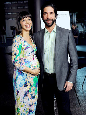 David Schwimmer with cute, Wife Zoe Buckman