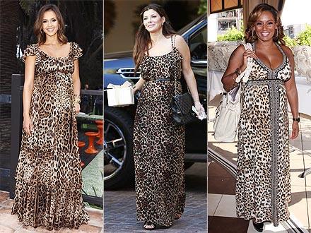 Leopard Print Maxi Dress on Stefanie Keenan Wireimage Flynet Jen Lowery Photography
