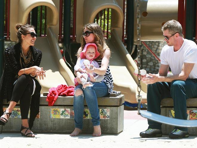 JESSICA, REBECCA & ERIC  photo | Eric Dane, Jessica Alba, Rebecca Gayheart