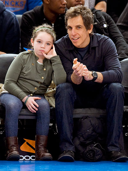 Photo of Ben Stiller & his  Daughter  Ella Stiller