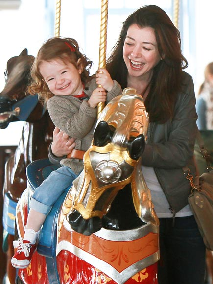 HORSING AROUND  photo | Alyson Hannigan
