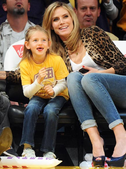 COURTSIDE CUTIES photo | Heidi Klum