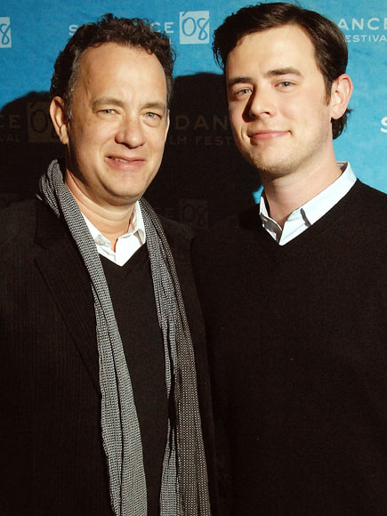 tom hanks wife and kids. tom hanks son colin hanks. tom hanks son. TOM amp; COLIN HANKS photo