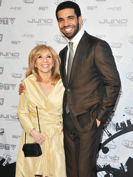 Stars and Their Moms :... Drake And His Mom 2013