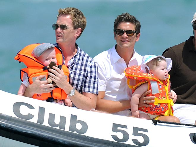 NEIL, GIDEON & HARPER  photo | David Burtka, Neil Patrick Harris