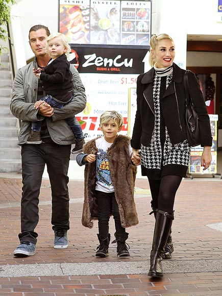 MODERN FAMILY  photo | Gavin Rossdale, Gwen Stefani, Kingston Rossdale, Zuma Rossdale