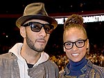 Alicia Keys & Swizz Beatz Cuddle at a Friend's Birthday Bash | Alicia Keys, Swizz Beatz