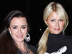 Paris Hilton&#39;s Glam Dinner with Aunt &#8211; and Housewives Star &#8211; Kyle Richards | Kyle Richards, Paris Hilton